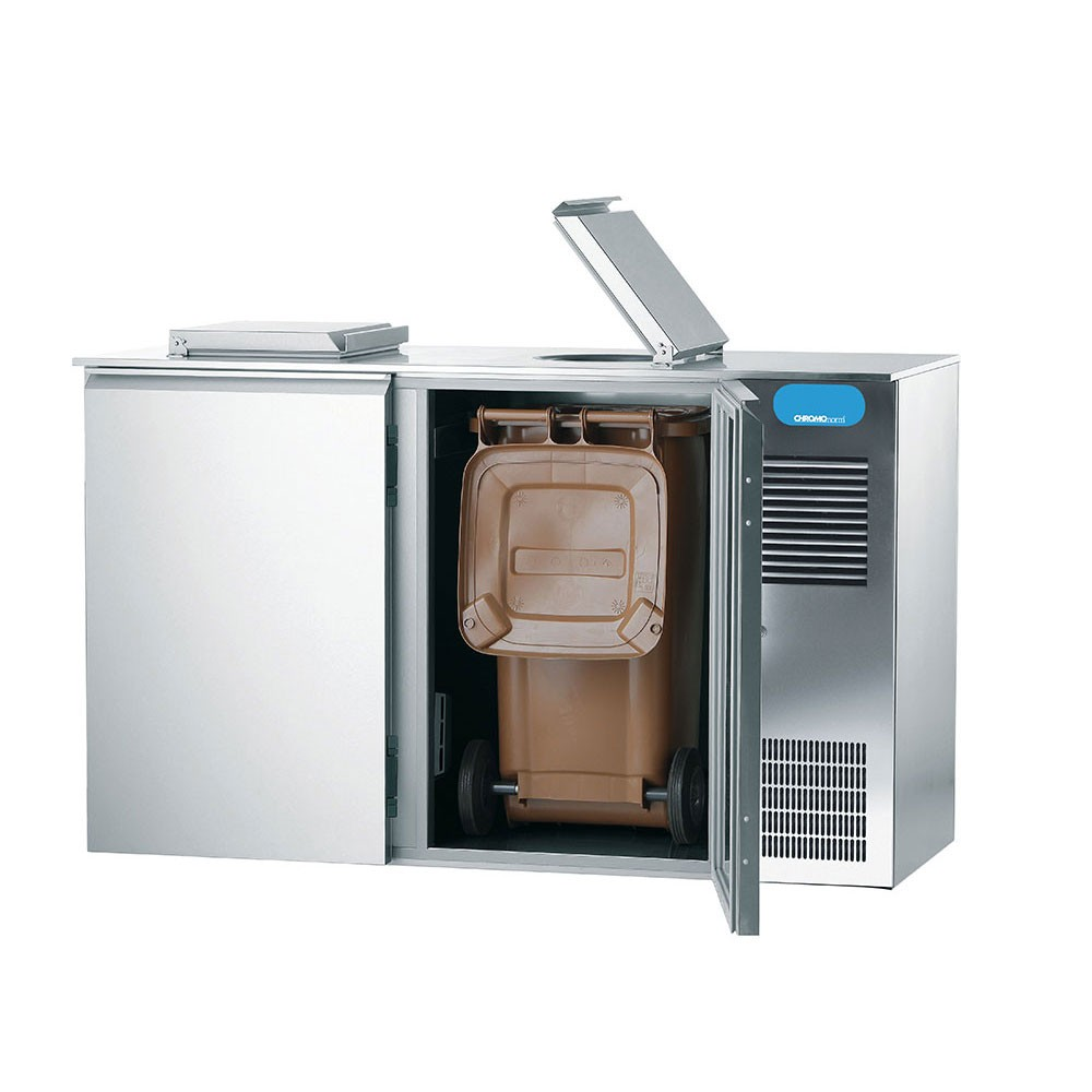 Abfallkühler 2 Türen 2x 240 L CAKM022400 Chromonorm