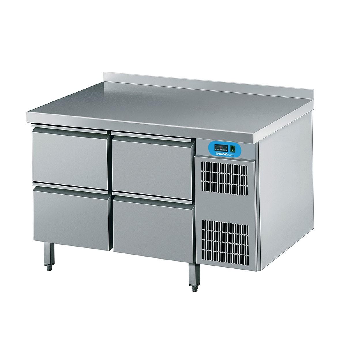 Kühltisch mit 4 Schubladen 1250 x 700mm CKTEK7211601-2/2 Chromonorm
