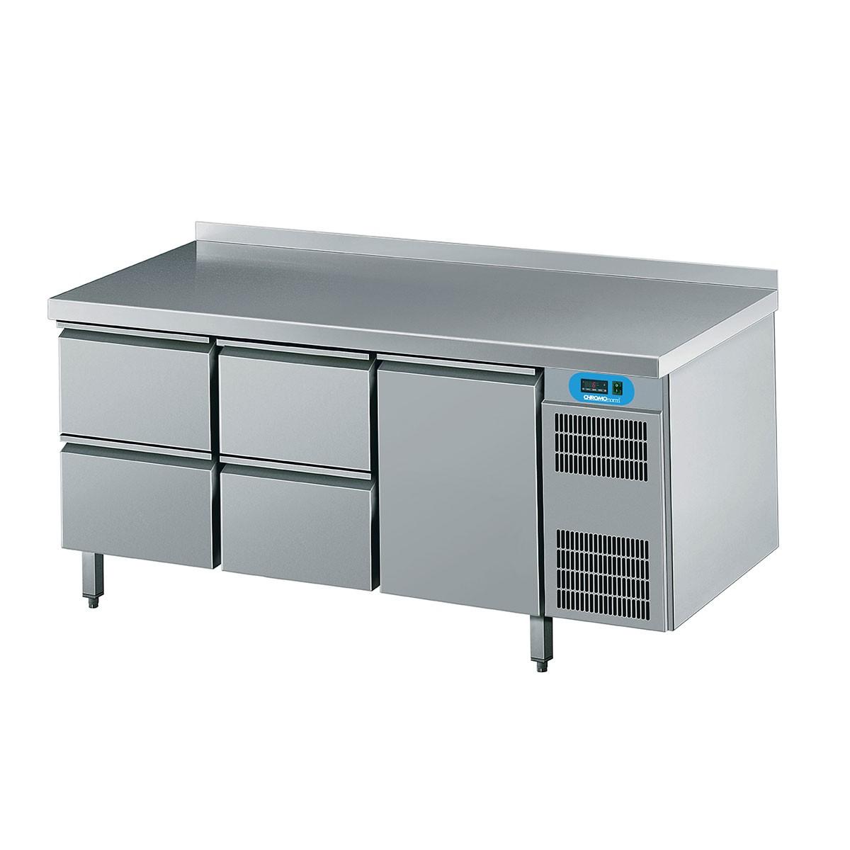Kühltisch mit 1 Flügeltür und 4 Schubladen 1725 x 700mm CKTEK7311601-2/2/1 Chromonorm