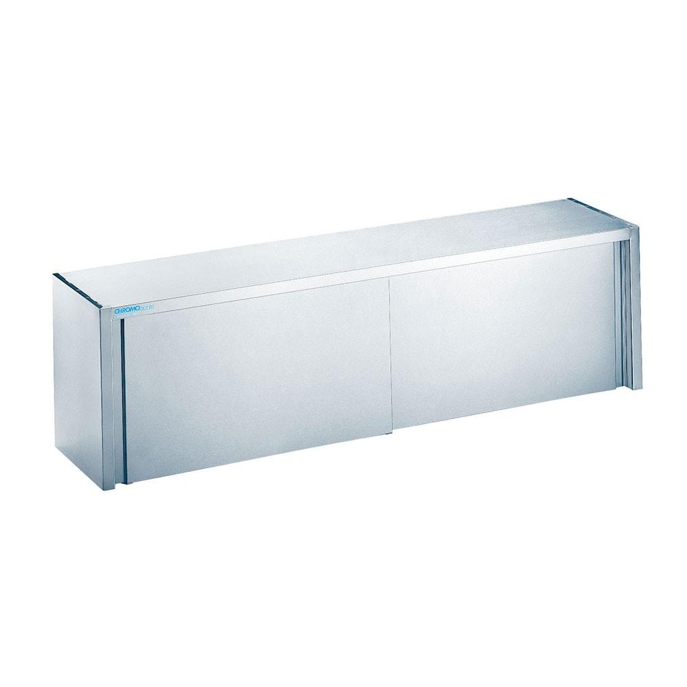 Chromonorm Edelstahl Wandhängeschrank mit Schiebetüren 400 x 1600mm HS041600000