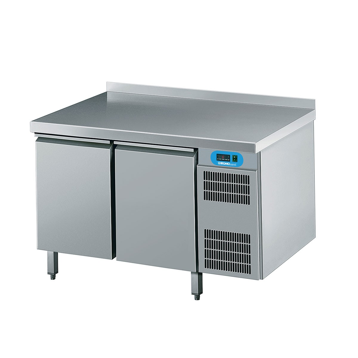 Kühltisch mit 2 Flügeltüren 1250 x 700mm CKTEK7211601-1/1 Chromonorm