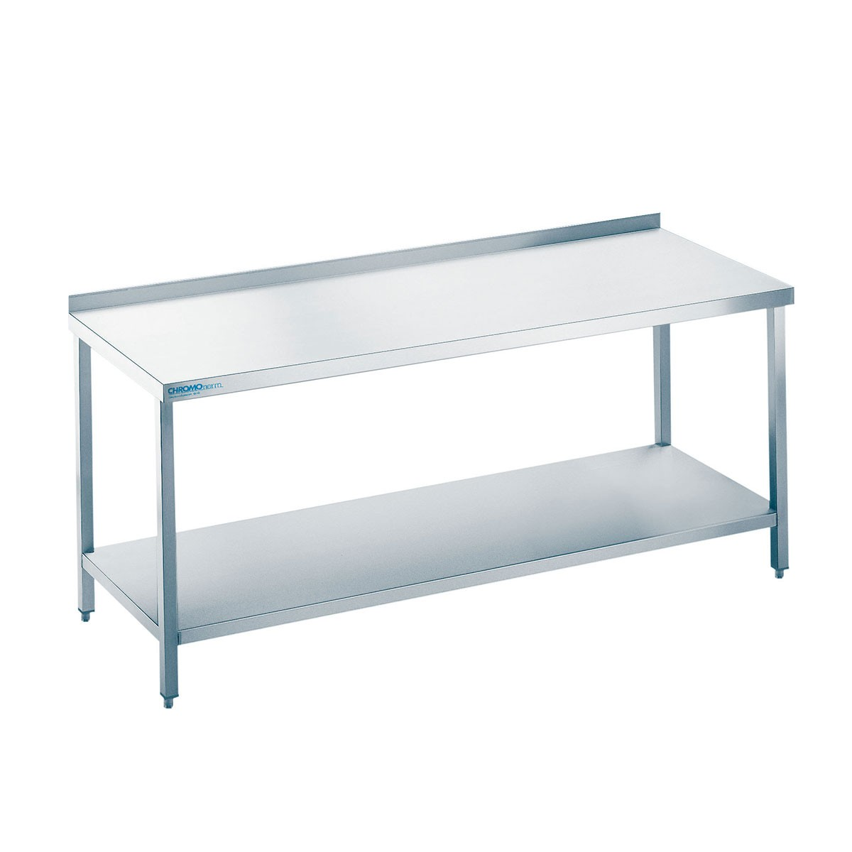 Edelstahl Arbeitstisch mit Zwischenboden Chromonorm TZ0616C0000 600mm x 1600mm