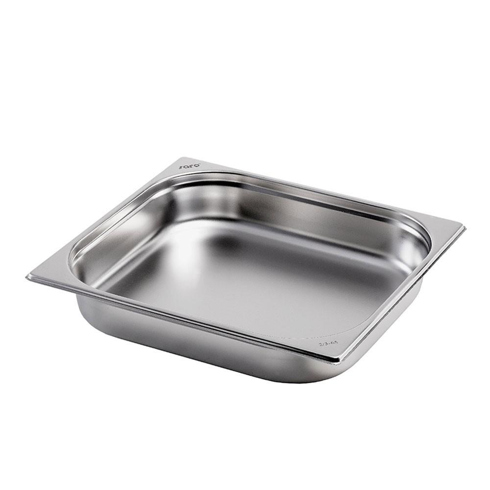 Gastronormbehälter GN 2/3 aus Edelstahl (Tiefe: 65mm) Saro 5,5 L