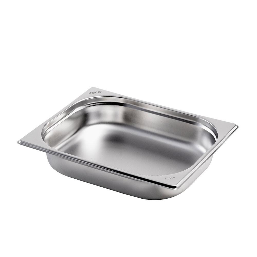 Gastronormbehälter GN 1/2 aus Edelstahl (Tiefe: 65 mm) Saro 4,0 L