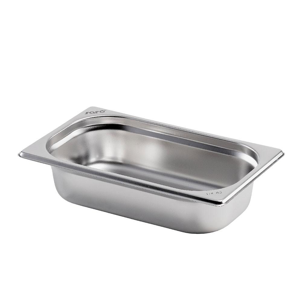 Gastronormbehälter GN 1/4 aus Edelstahl (Tiefe : 100 mm) 2,8 L Saro