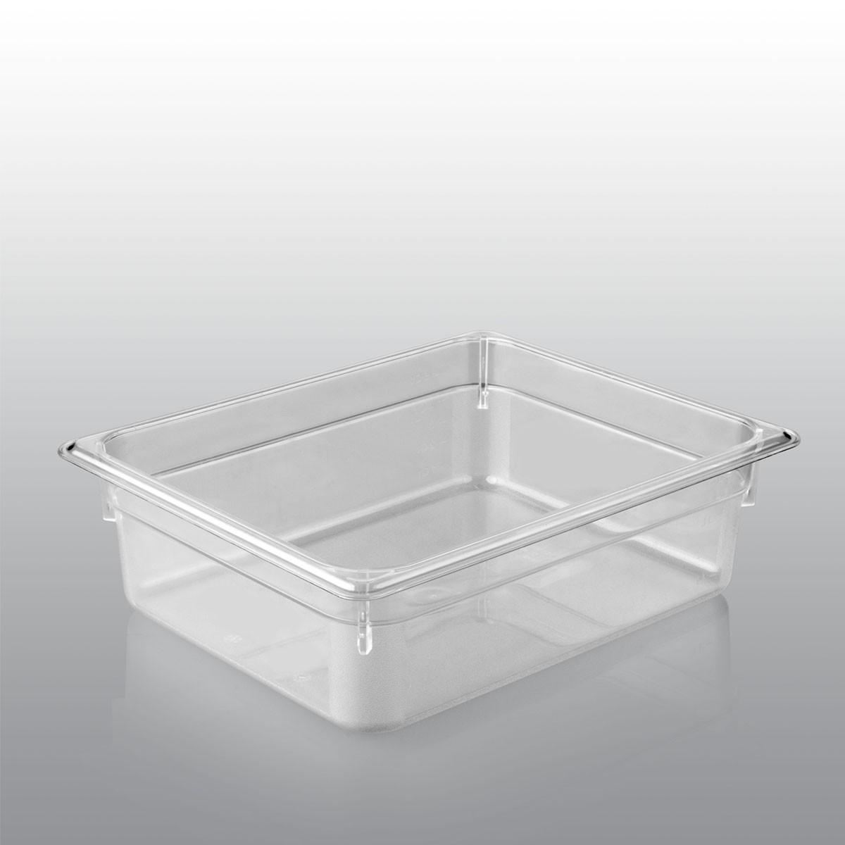 GN Behälter GN 1/2 aus Polycarbonat (Tiefe: 65mm) 4,0 L Saro