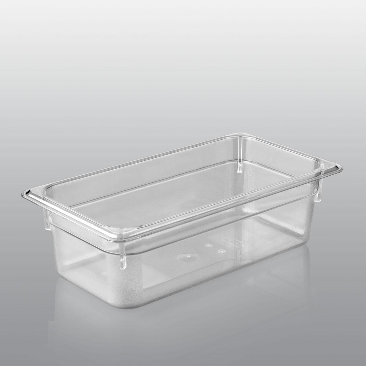 GN Behälter GN 1/3 aus Polycarbonat (Tiefe: 100mm) 4,0 L Saro