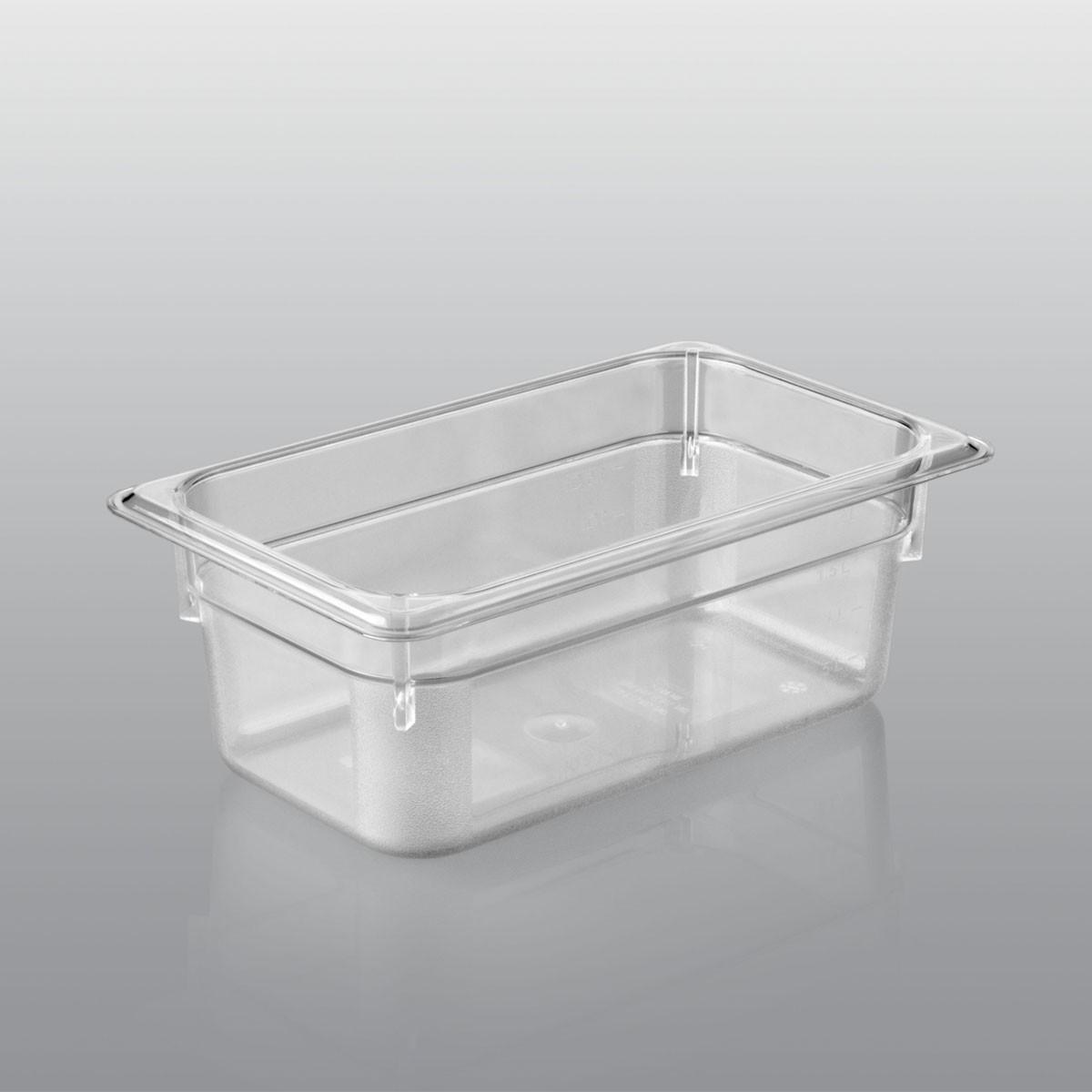 GN-Behälter GN 1/4 aus Polycarbonat (Tiefe: 100mm) 2,8 L Saro