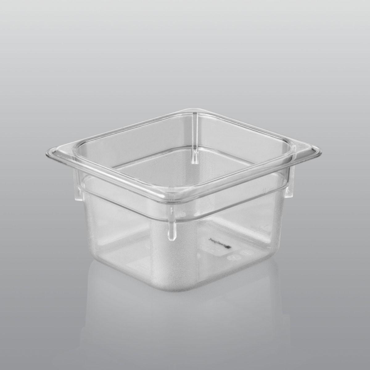 GN-Behälter GN 1/6 aus Polycarbonat (Tiefe: 65mm) 1,0 L Saro