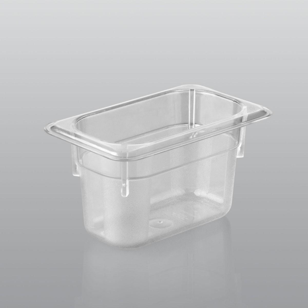 GN Behälter GN 1/9 aus Polycarbonat (Tiefe: 100mm) 1,0 L Saro