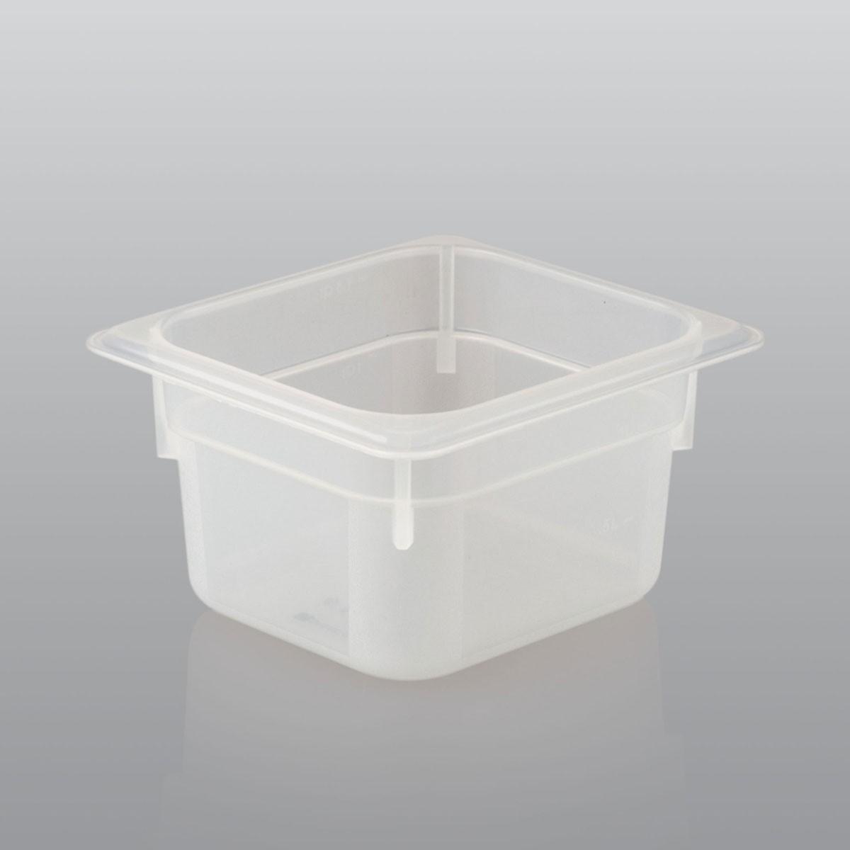 GN Behälter GN 1/6 aus Polypropylen (Tiefe: 150mm) 2,4 L Saro