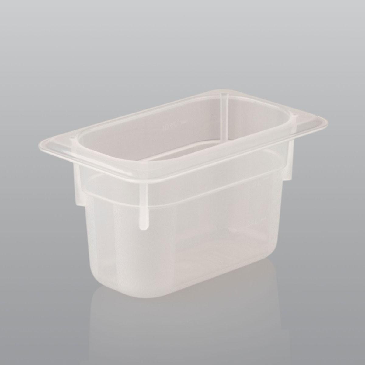 GN Behälter GN 1/9 aus Polypropylen (Tiefe: 65mm) 0,6 L Saro