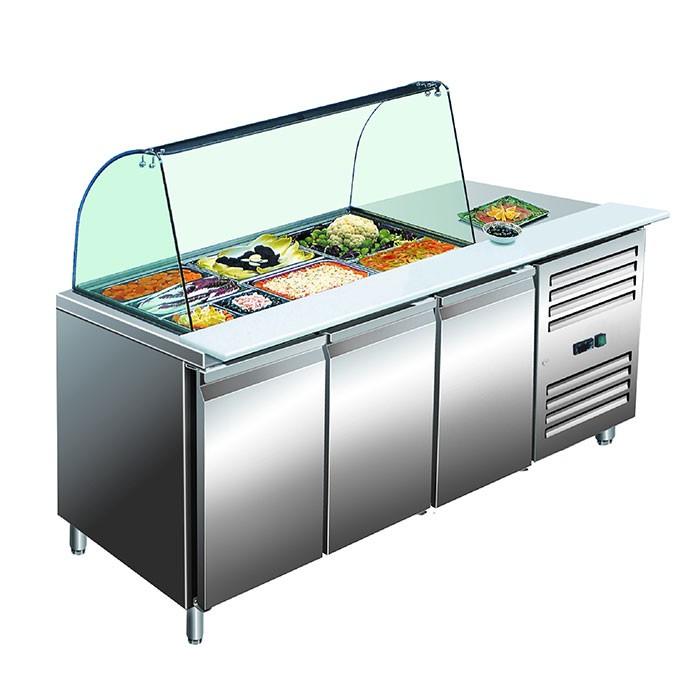 Kühltisch mit Glasaufsatz GN 3100 TNS Saro