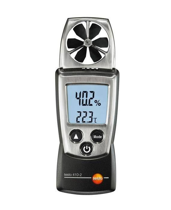 testo 410-2 - Flügelrad-Anemometer (Temperatur und Feuchte)