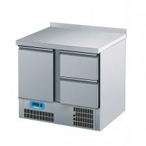 Chromonorm Kühltisch mit 1 Flügeltür und 2 Schubladen 950 x 700mm CKTT07952CEV