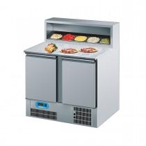 Chromonorm Pizzakühltisch mit 2 Flügeltüren 950 x 680mm CKTP079500EV