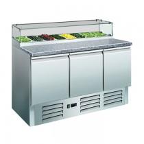 Pizzakühltisch mit Glasaufsatz PS 300 G Saro
