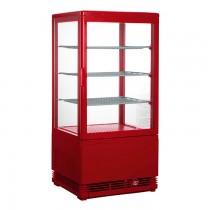 Mini Umluftkühlvitrine SC 70 rot Saro