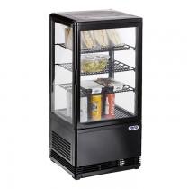 Mini Umluftkühlvitrine SC 70 schwarz Saro